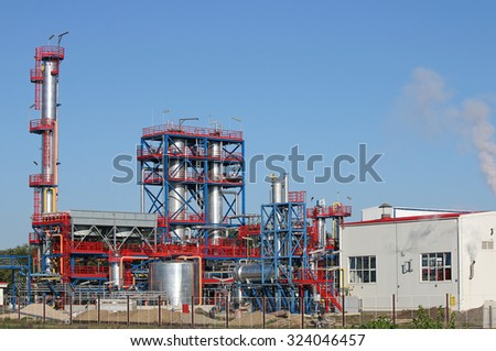 petrochemical plant oil industry