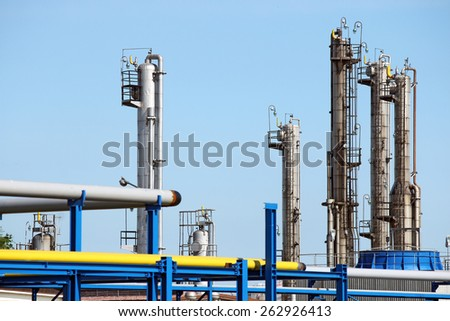 petrochemical plant refinery industry zone