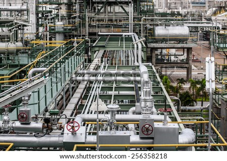 petrochemical plant zone - stock photo