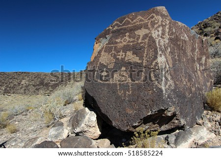 Petroglyphs at Boca Negra Canyon, Albuquerque, New Mexico