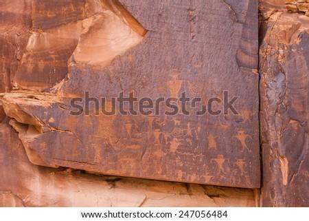 Petroglyphs Utah - stock photo
