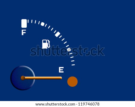 Petrol, fuel, gasoline gauge - empty,background - stock photo