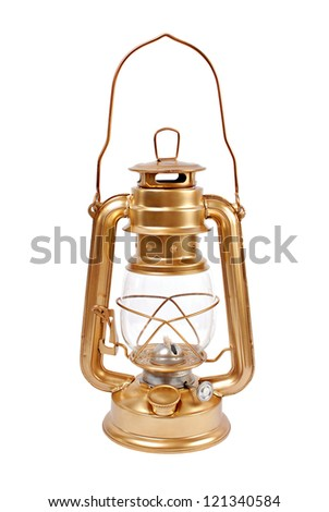 Petrol lamp isolated on a white background. - stock photo