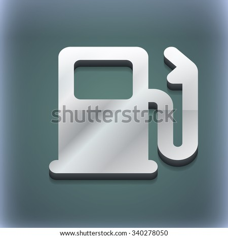 Petrol or Gas station, Car fuel icon symbol. 3D style. Trendy, modern design with space for your text illustration. Raster version - stock photo