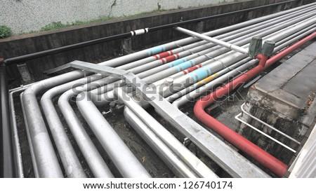 petrol pipelines - stock photo