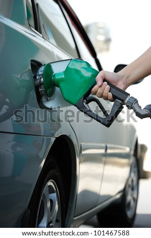 Petrol pump filling