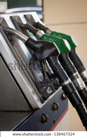 Petrol station - stock photo