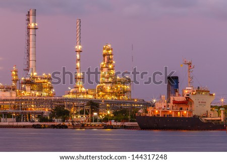 petroleum and oil refinery at Bangkok Thailand - stock photo