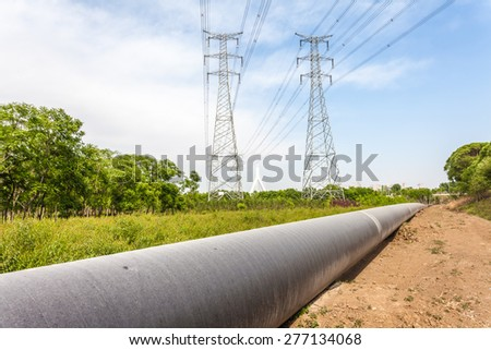Petroleum Pipeline - stock photo