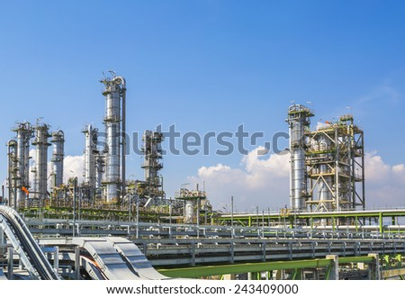 Petroleum plant with blue sky