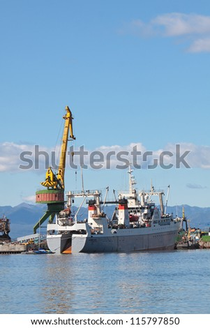 Petropavlovsk-Kamchatsky, the ships are in port