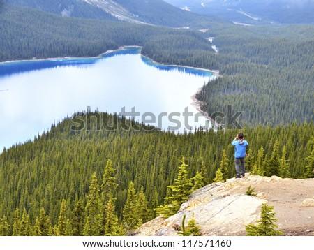 Peyto Lake_Banff National Park, Alberta, Canada_taken Jun 5, 12 - stock photo