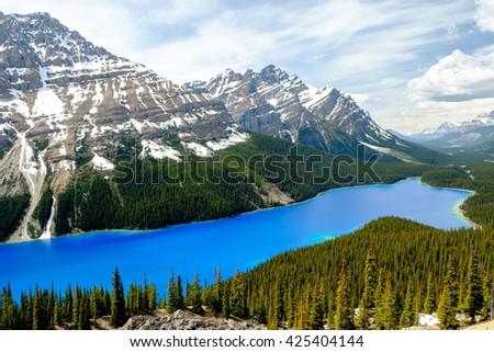 Peyto Lake, Banff National Park, Canada - stock photo