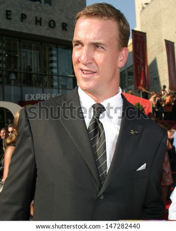 Peyton Manning at the ESPY Awards Kodak Theater Los Angeles, CA July 14, 2005 - stock photo