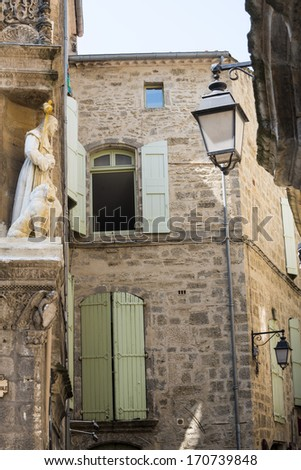 Pezenas (Herault, Languedoc-Roussillon, France), buildings of the medieval city