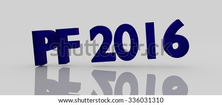 PF 2016 blue shiny abstract happy new year with glass effect