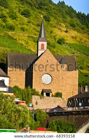 Pfarrkirche St.Remaclus in COCHEM,GERMANY - stock photo