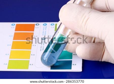 Ph testing - stock photo