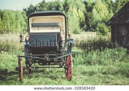 phaeton carriage ?oach of the 18th century  - stock photo