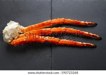 Phalanx of red king crab - stock photo