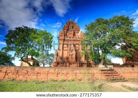 PHAN RANG town, VIET NAM, 02 january, 2015 - Po Garai Cham temple is a tower located in the medieval principality of Panduranga Cham, Phan Rang City, Ninh Thuan, Vietnam