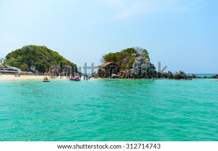 PHANG NGA,THAILAND - MARCH 24, 2015: Khai Nok island is one of the most famous island in Thailand .Crystal clear water and white sand beach. 24 March 2015, Phang Nga , Thailand.