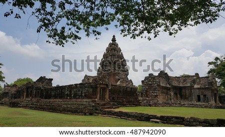 Phanom Roong Castle,Ancient temple and in Thailand
