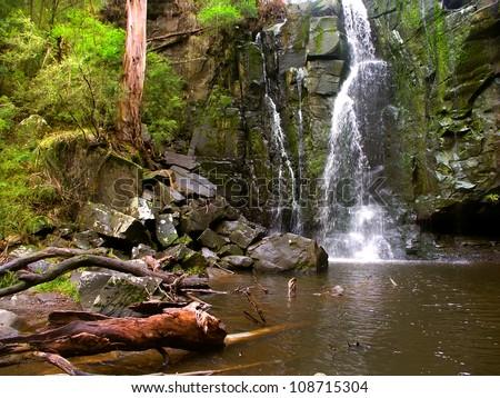 Phantom Falls in the Angahook-Lorne State Park of Victoria, Australia - stock photo