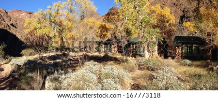 Phantom Ranch in Grand Canyon National Park in Arizona - stock photo