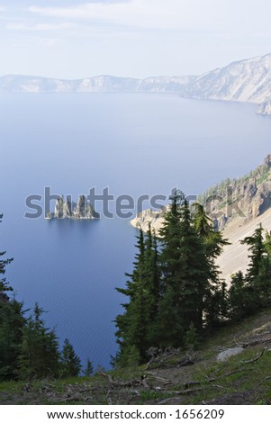 Phantom ship rock, Crater Lake