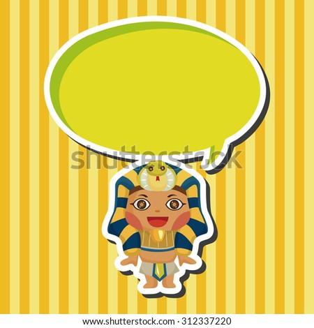 pharaoh, cartoon speech icon