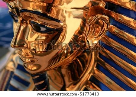 Pharaoh sculpture - stock photo