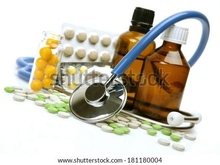 Pharmaceutical preparations  - stock photo