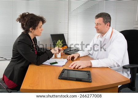 Pharmaceutical Sales Representative - stock photo