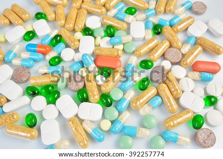 PHARMACY - colored pills