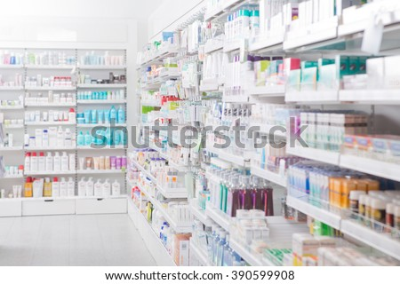 Pharmacy Interior - stock photo