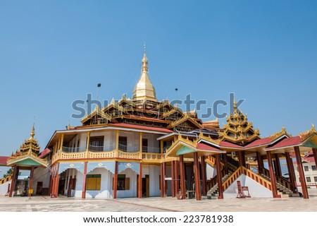 Phaung Daw Oo Pagoda in Inle Lake,Shan state, myanmar (Burma). - stock photo