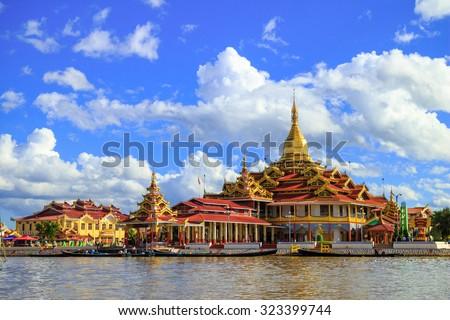 Phaung Daw Oo Pagoda, Inle lake, Shan state, Myanmar - stock photo