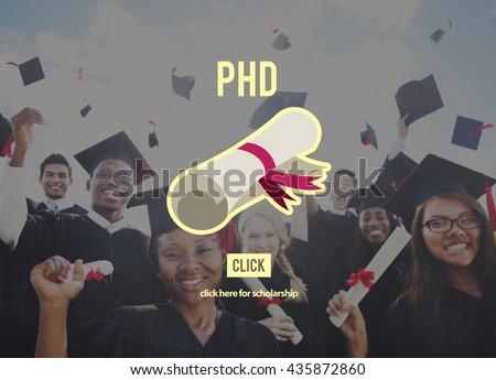 PhD Doctor of Philosophy Degree Education Graduation Concept - stock photo