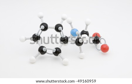 Phenylalanine amino acid molecule - stock photo