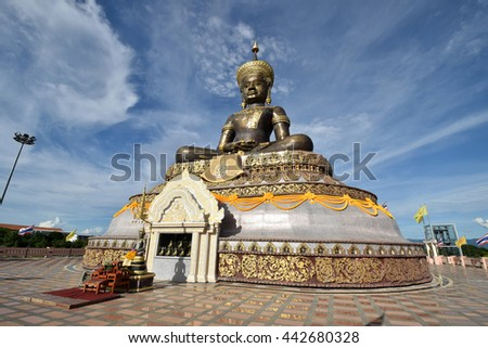 Phetchabun, Thailand - June 18, 2016: The Big Buddha Belongs to the public (phraphuthth- mha-thrrm-racha) at phetchabun province, Thailand