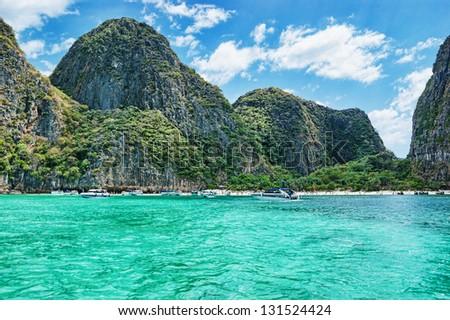 phi phi island Krabi Province, Thailand - stock photo