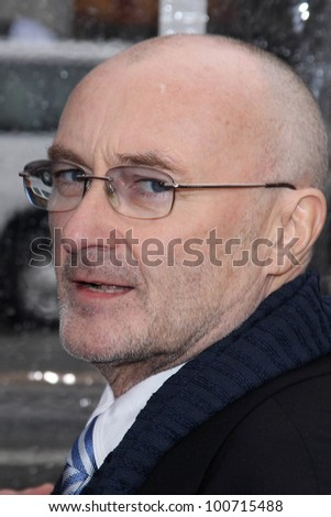 "Phil Collins at the ""Mirror Mirror"" Los Angeles Premiere, Chinese Theater, Hollywood, CA 03-17-12 - stock photo"