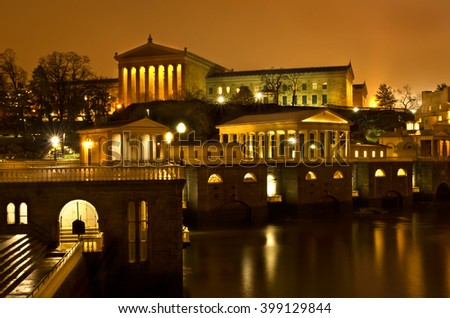 Philadelphia Museum of Art in Philadelphia Pennsylvania. Taken at Night.
