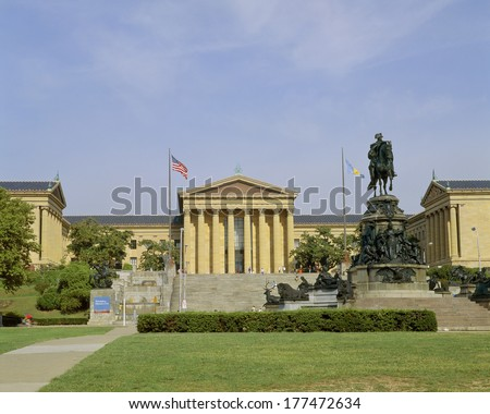 Philadelphia Museum of Art,Pennsylvania - stock photo