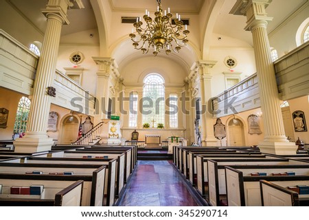 PHILADELPHIA - OCT 20: Christ Church in old downtown of Philadelphia, Pennsylvania on October 20, 2015. - stock photo
