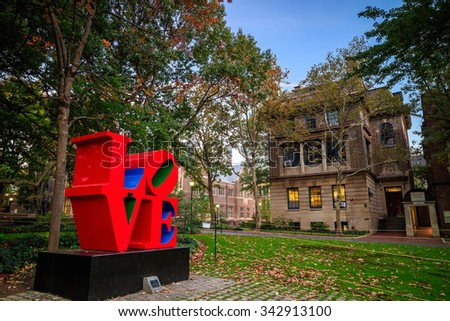 PHILADELPHIA - OCT 20: The University of Pennsylvania on October 20, 2015. The University of Pennsylvania (commonly referred to as Penn or UPenn) - stock photo