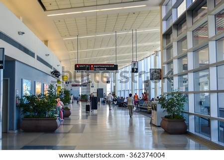 PHILADELPHIA, PA - CIRCA 2011: inside the Philadelphia International Airport, USA at summer 2011. - stock photo