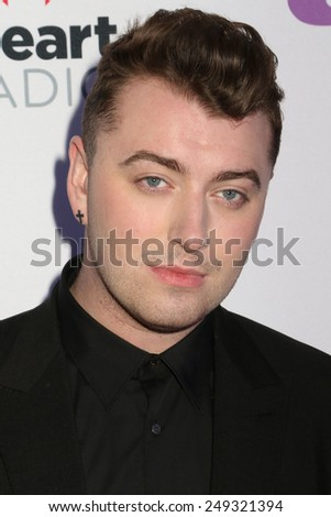 PHILADELPHIA, PA - December 10, 2014: Sam Smith attends the Q102's Jingle Ball at the Wells Fargo Center on December 10, 2014 in Philadelphia.  - stock photo