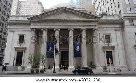 PHILADELPHIA, PA - MAY 10: The Ritz-Carlton Philadelphia in Pennsylvania, USA, as seen on May 10, 2015. It is a luxury hotel and residential complex comprising of three adjoining buildings. - stock photo